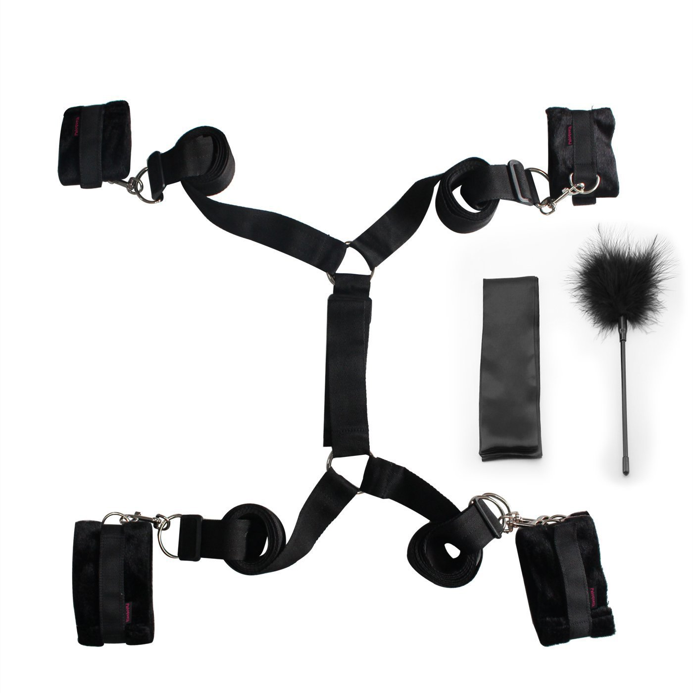 Amazon.com: BDSM Restraints Kit with Adjustable Straps Strong Velcro for  Bedroom Fun, PALOQUETH Under Bed Restraints with Comfortable Cuffs Flirting  Feather ...