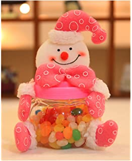 christmas candy jar plush plastic santa claus snowman elk bear cute sugar box piggy bank - Christmas Candy Jar Decorations