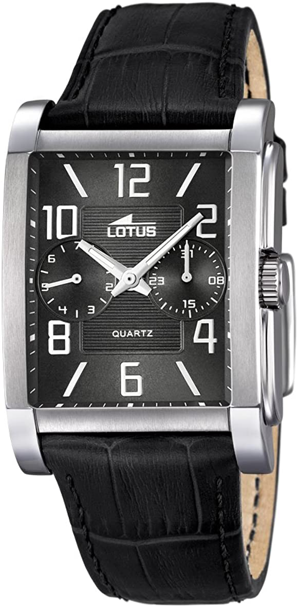 Lotus 18221/4 - Reloj de Pulsera Hombre, Cuero, Color Negro