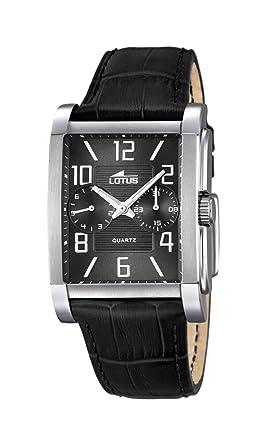 Lotus 18221/4 - Reloj de Pulsera Hombre, Cuero, Color Negro: Amazon.es: Relojes