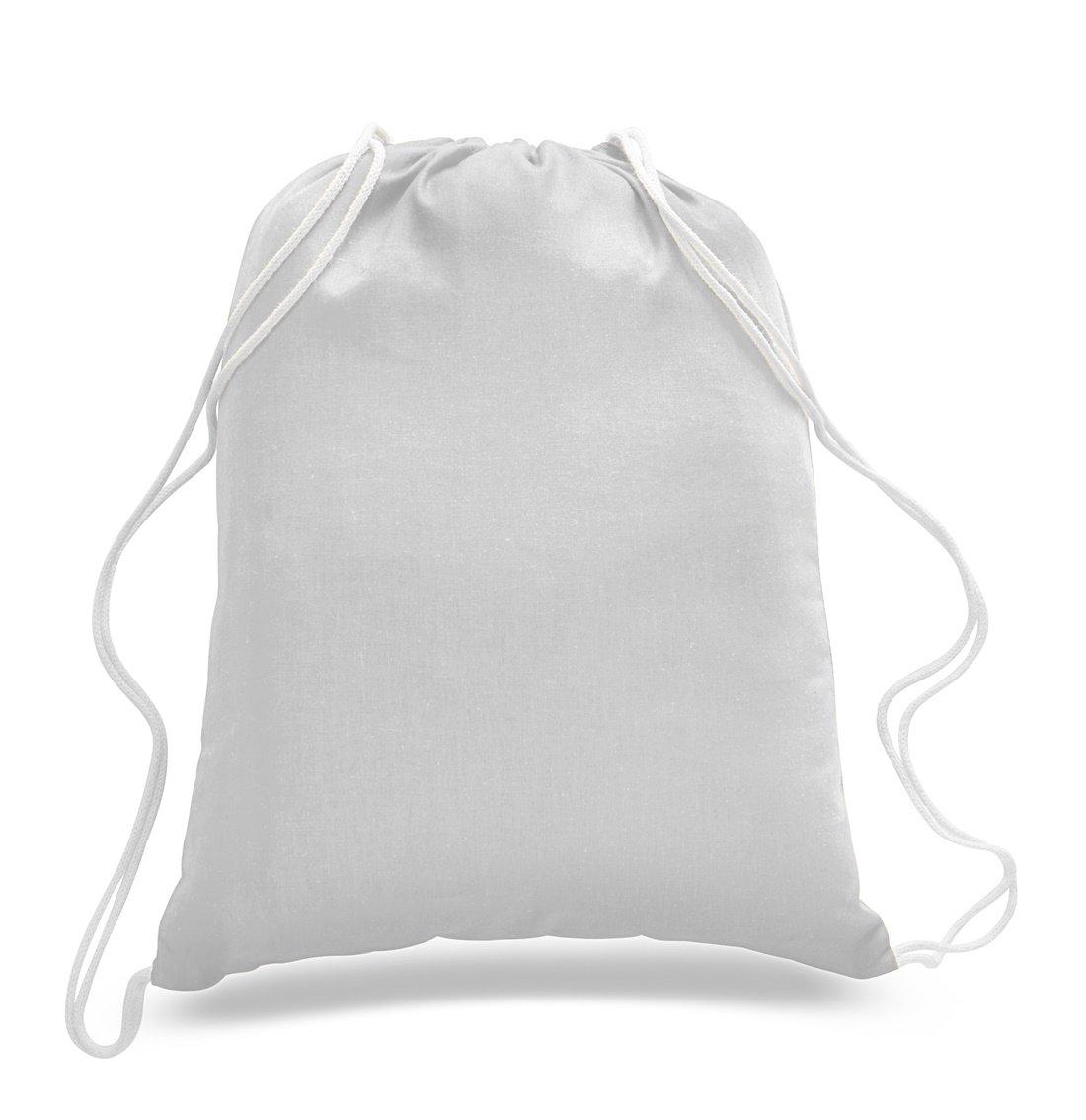 c37636e23d Amazon.com  (12 Pack) 1 Dozen - Durable Cotton Drawstring Tote Bags  (White)  Home   Kitchen
