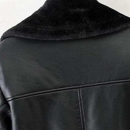 Amazon.com: oberora Womens chamarra de piel sintética con ...