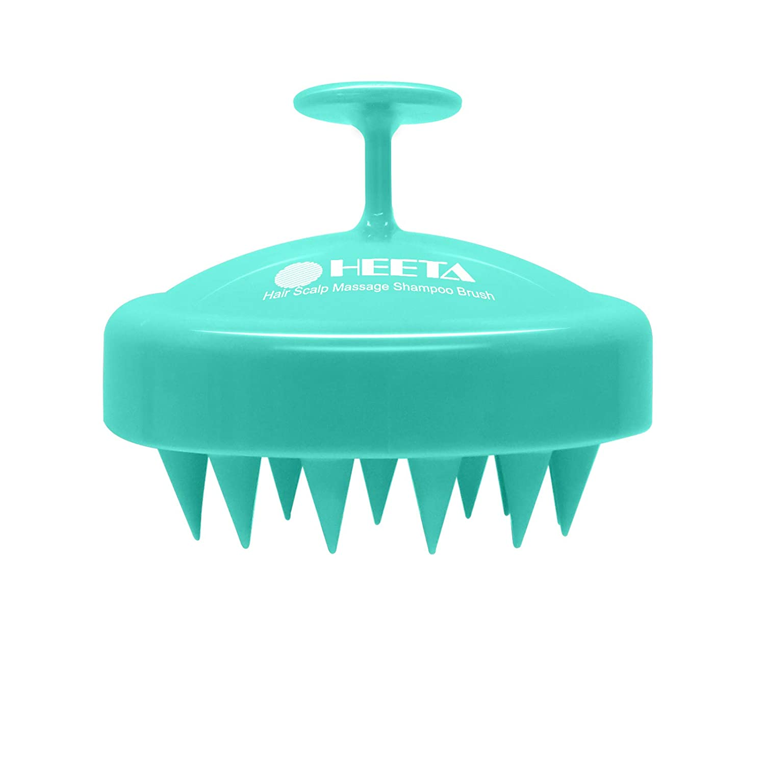 Hair Shampoo Brush, Heeta Scalp Care Brush with Soft Silicone Head Massager for Women, Men, Pets (Green)