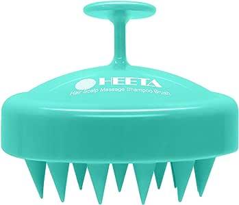 Heeta Hair Scalp Massager, Wet and Dry Shampoo Brush Scalp Massage Brush with Soft Silicone Rubber Hair Brush for Women, Men, Pet (Green)