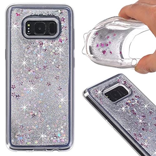 Price comparison product image S8 Plus Case,Galaxy S8 Plus Glitter Case,DAMONDY 3D Moving Stars Bling Liquid Glitter Floating Dynamic Flowing Ultra Clear Soft TPU Case for Samsung Galaxy S8+ Plus 2017 -sliver
