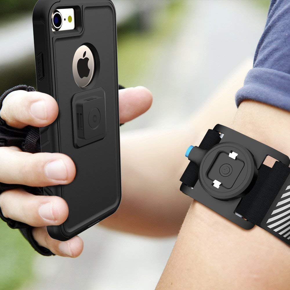 Greallthy Mobile Phone Armband with Built-in Reflect Strip,Easy Fitting,Sport Armband for Exercise Outdoor Jogging Cycling Running Compatible with iPhone X/8 Plus/8/7 and More Mobile