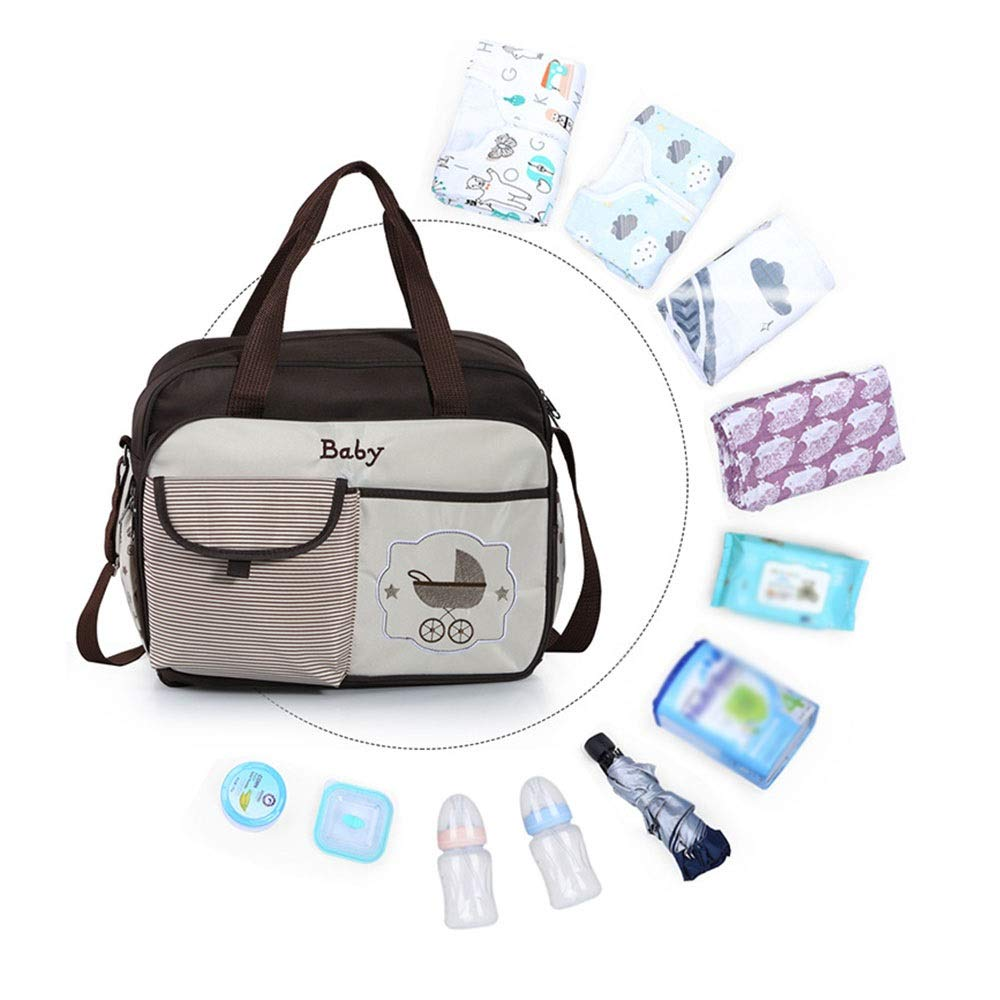 Stroller Organizer Baby Stroller Organizer Bag for Mom Also Converts to A Stylish Shoulder Bag Waterproof Diaper Bag with Changing Pad for Mom Fits All Baby Stroller Models Parents Stroller Organizer by DHUYUN (Image #8)