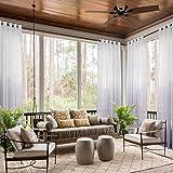 cololeaf Grommet Top Sheer Curtains Indoor Outdoor Gradient Ombre For Living Room   Bedroom   Kidsroom   Classroom  Hotel - Light Purple 100'' W x 96'' L (1 Panel)