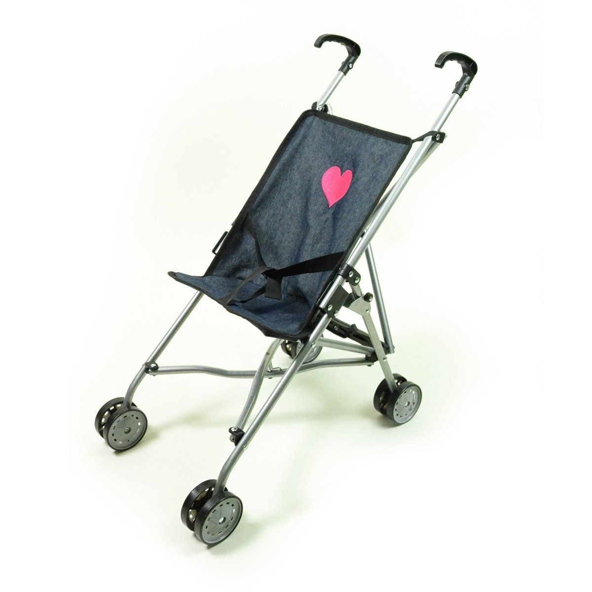 """The New York Doll Collection First Umbrella Dolls Stroller in Denim, one piece - Black - Color for18"""" inch for Toddler"""