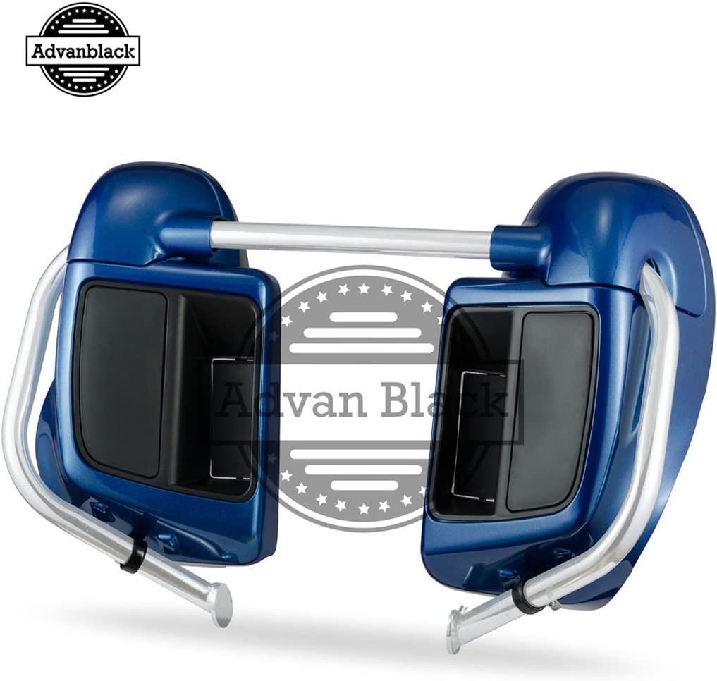 Daytona Blue Lower Vented Fairings Leg Warmers Fit for Harley Touring Road Glide Street Glide Road King Electra Glide 2014 2015 2016 2017 2018 2019