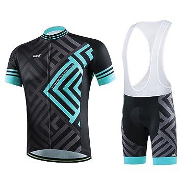 7b63dff49 West Biking Men s Mountain Bike Jersey Cycling Jersey Set Men Half Sleeve  Tops Bib Shorts 3D Padded Cycle Pants  Amazon.co.uk  Sports   Outdoors