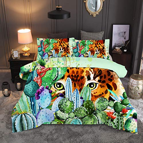 cute cartoon tiger print duvet cover
