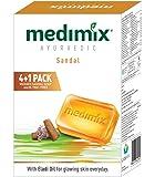 Medimix Ayurvedic Sandal Soap, 125g (4+1 Offer Pack)