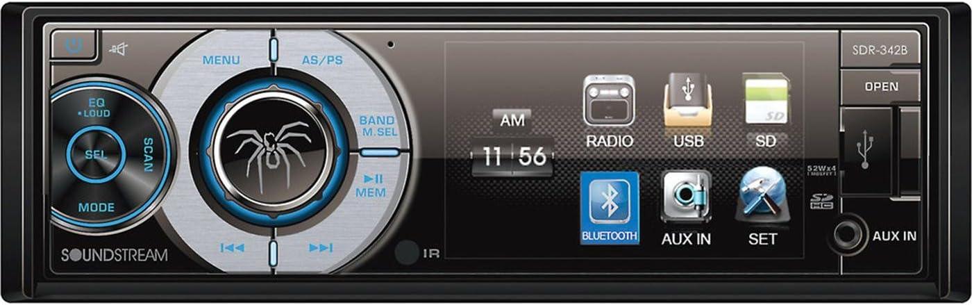 """NEW 3.4/"""" SOUNDSTREAM STEREO RADIO W AUX//USB INPUT /& BLUETOOTH W INSTALLATION KIT"""
