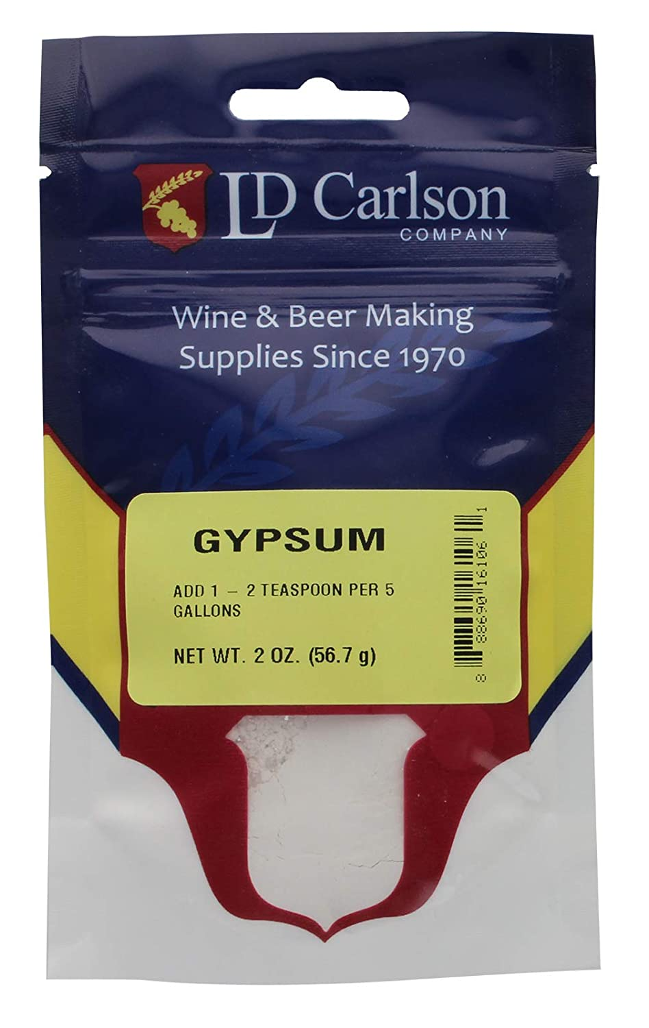 Calcium Sulfate Gypsum 2 oz. for Home Brew