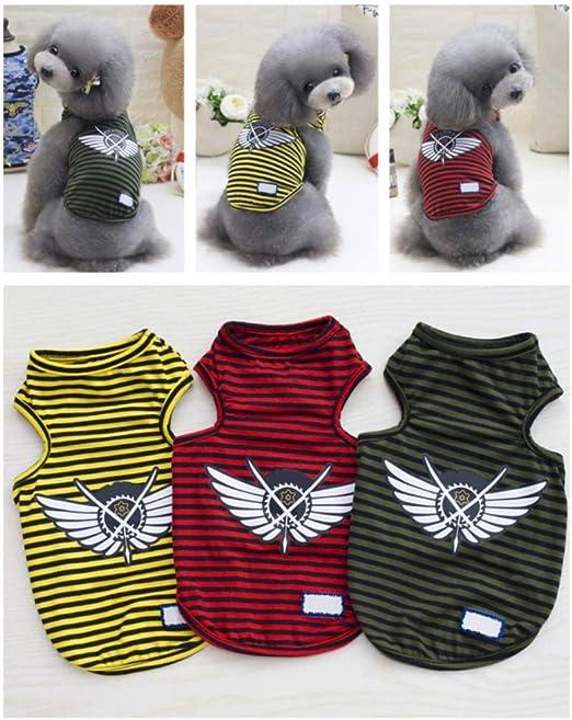 Handfly Mascota Cachorro Camisa de Verano Perro pequeño Gato Ropa para Mascotas Chaleco Camiseta Cachorro Ropa de Verano Traje pequeño Perro Camisetas: Amazon.es: Productos para mascotas