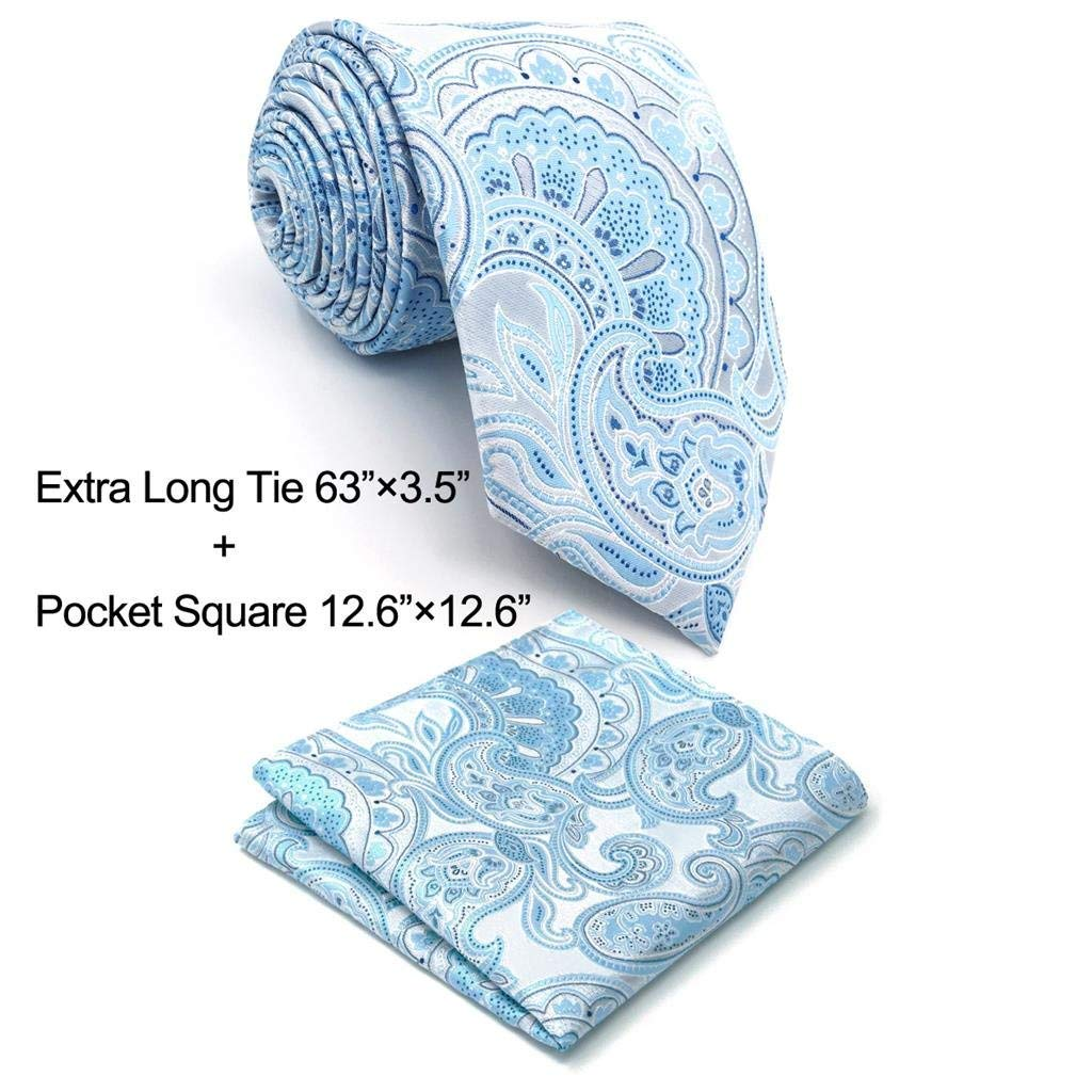 Shlax& Wing Paisley Silver Light Blue Neckties Silk Ties For Men New A38-H