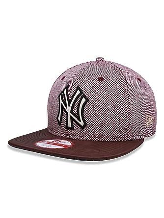 8d745b3d42 BONE 950 ORIGINAL FIT NEW YORK YANKEES MLB ABA RETA SNAPBACK VINHO/BRANCO NEW  ERA