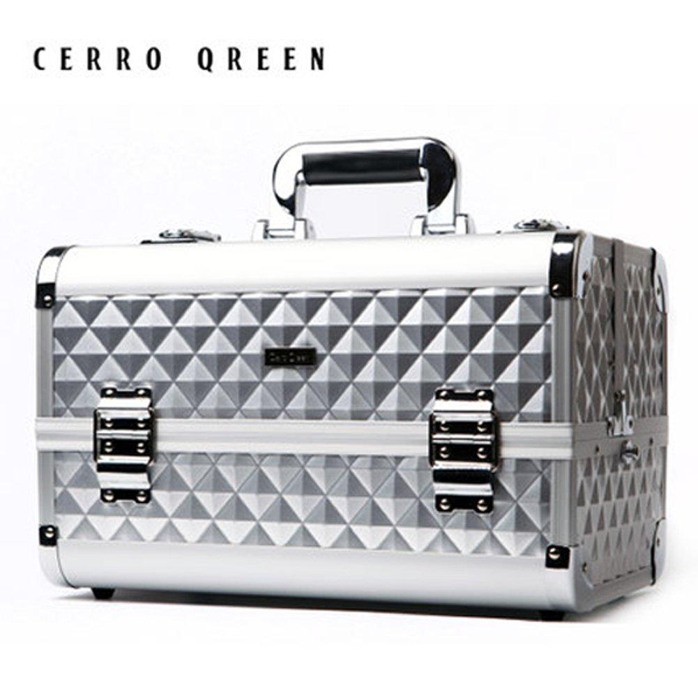 CERROQREEN Fashion Pro Portable Makeup Organizer Artists Cosmetics Train Case