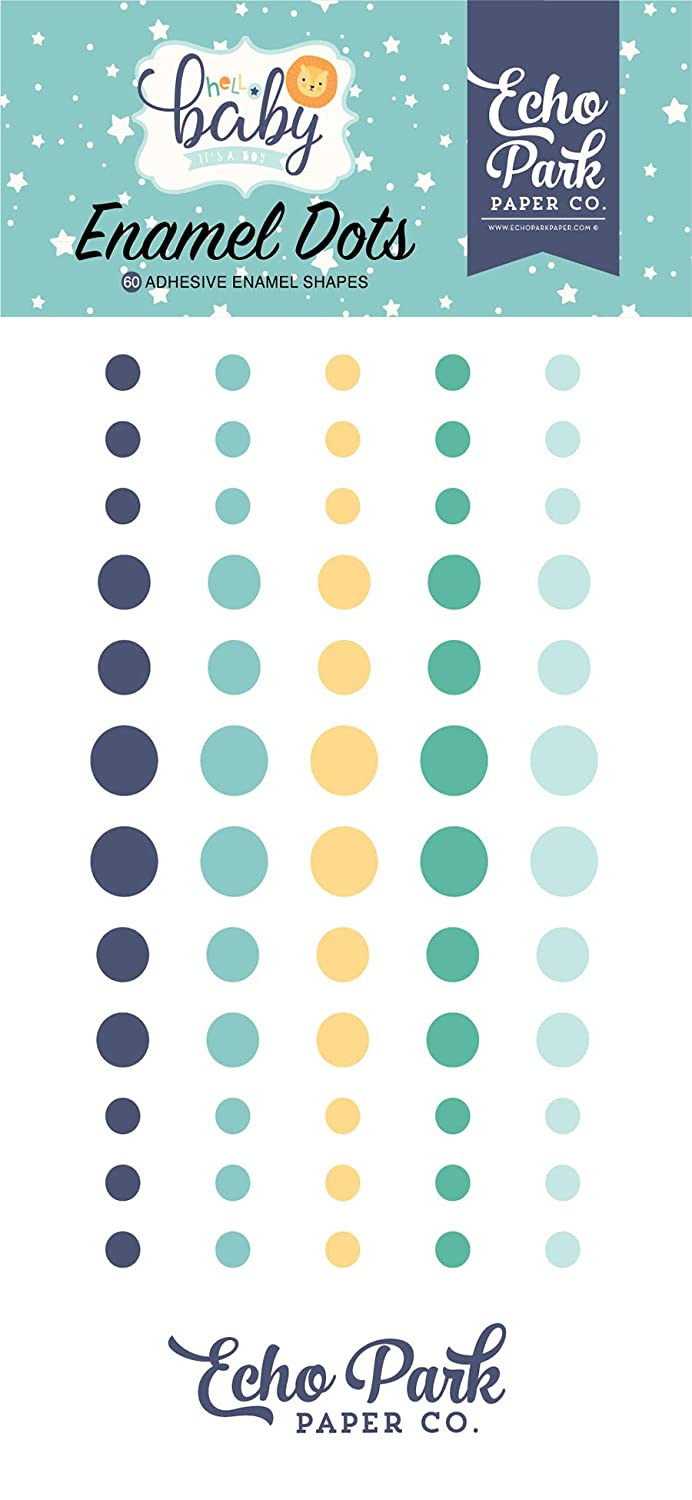 Orange Yellow Echo Park Paper Company Hello Baby Boy Enamel dots Navy Teal Orange