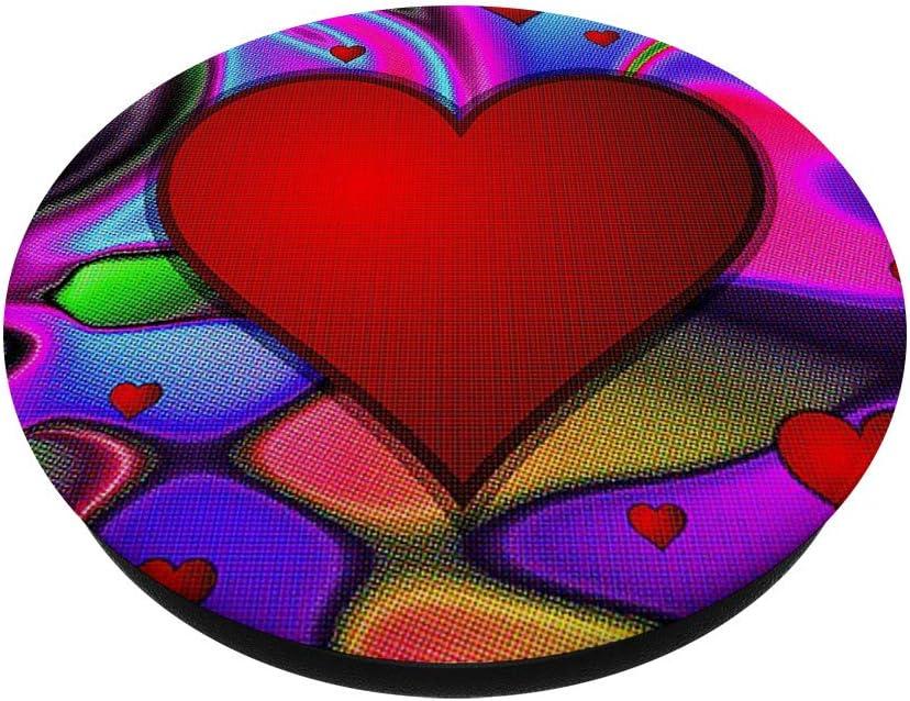 Cell Phone Pop Up Holder,Monogram Paw Print Heart Letter A PopSockets Agarre y Soporte para Tel/éfonos y Tabletas
