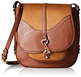 Calvin Klein Women's Unlined Novelty Messenger, Luggage/Nutmeg Suede