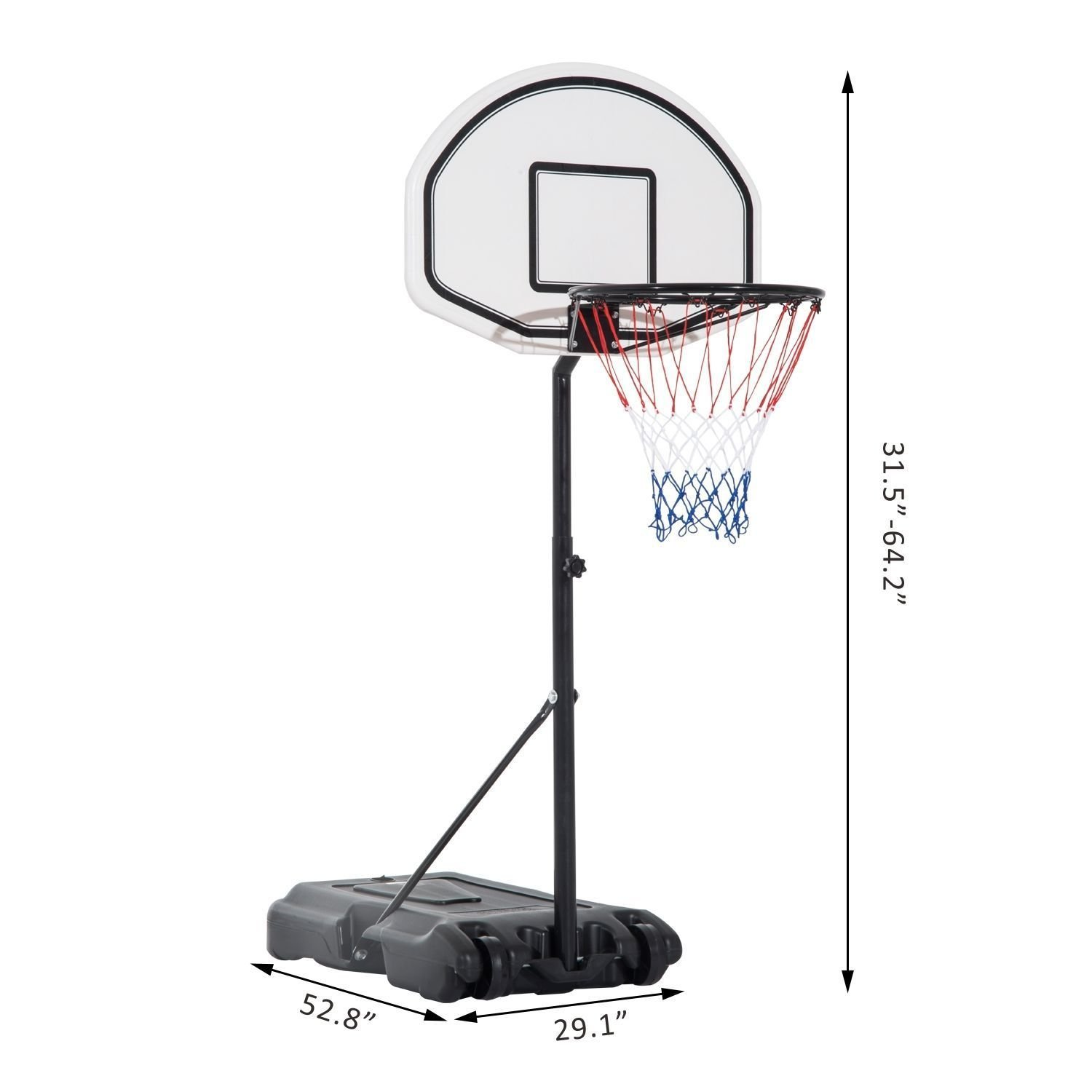 Poolside Basketball Hoop System Pool Water Sport Game Play Outdoor Adjustable by SpiritOne (Image #3)