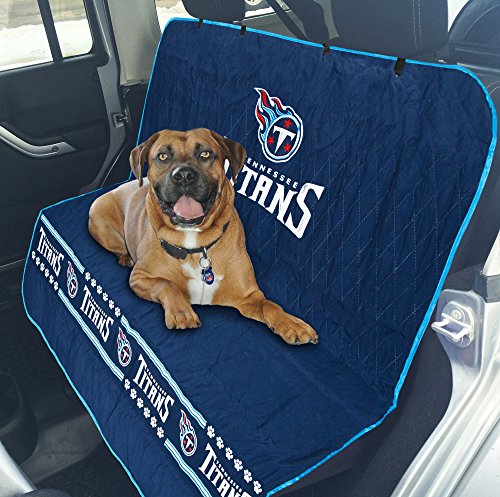 Tennessee Titans Fan Gear - Pets First NFL CAR SEAT Cover - Tennesee Titans Waterproof, Non-Slip Best Football Licensed PET SEAT Cover for Dogs & Cats.