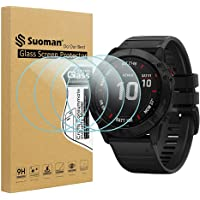 Suoman 2.5D 9H Hardness Tempered Glass Screen Protector for Garmin Fenix 6X Pro Solar/ 6X Pro/ 6X Smartwatch (Not Fit…