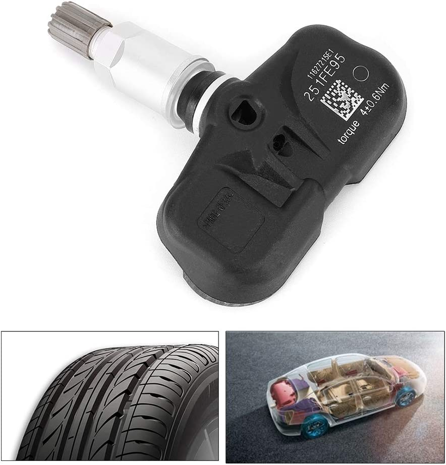 Tire Pressure Sensor ABS Tire Pressure Sensor Monitoring System Replacement Fit for Toyota 4Runner 2004-2015 42607-33021 Aluminum