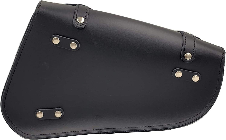 Iguana Custom Borsa in pelle per basculante con chiusure rapide specifica per il lato sinistro della Harley Davidson Sportster Realizzata a mano in Spagna in autentica pelle