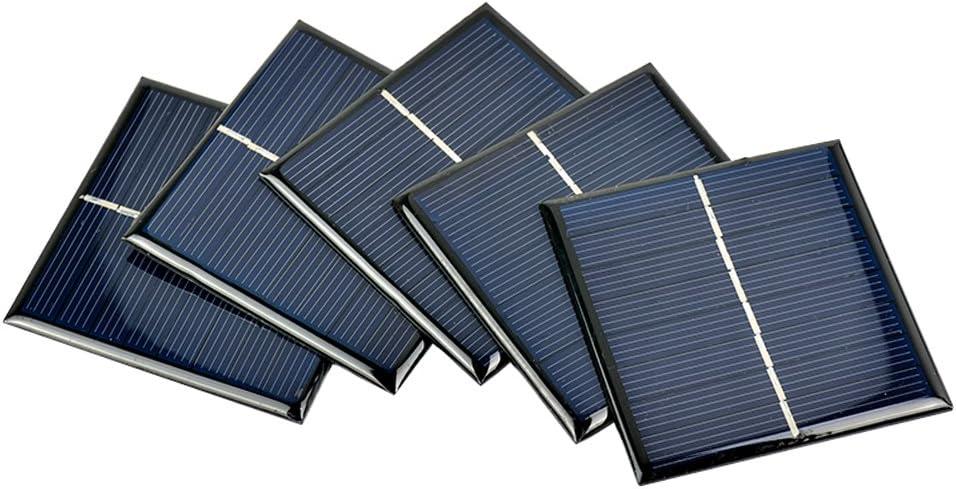 AOSHIKE 5Pcs Mini Solar Panels Polycrystalline Solar Cells 70x70MM 4V 140MA DIY Solar Painel D