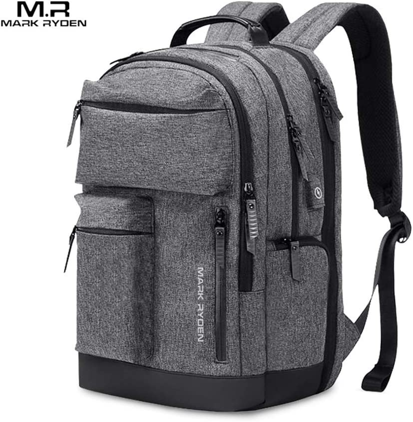 Walmeck- Mark Ryden Portable New Outdoor Waterproof Nylon Knapsack Male Business Multi-Function Three Layers Travel Laptop Bag
