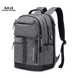 Walmeck- Mark Ryden Portable New Outdoor Waterproof Nylon Knapsack Male Business Multi-Function Three Layers Travel Laptop Bag