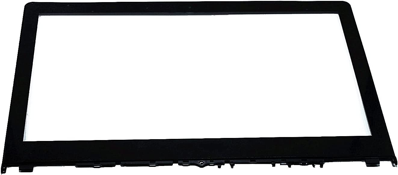 LCDOLED 15.6 inch Replacement Touch Screen Digitizer Front Glass Panel + Bezel for Lenovo Flex 3-1580 80R4