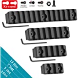 GoldCam Keymod Picatinny Rails, 3 5 7 13 Slots Lightweight Aluminum Picatinny Rail Sections Adapter for Keymod Handguard Mount Rail System with 10 Screws/Nuts, 3 Allen Wrench - 4 Pack