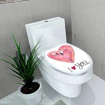 Superb Amazon Com Auraise Home Toilet Seat Decal Vinyl Watercolor Creativecarmelina Interior Chair Design Creativecarmelinacom