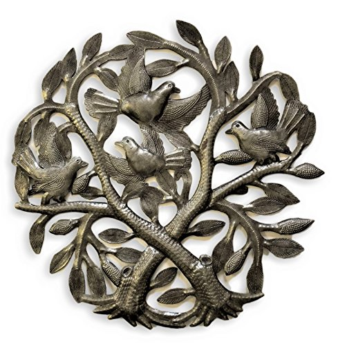 it's cactus - metal art haiti Crossing Trees, Metal Wall Art Handmade in Haiti From Recycled Drums, Artistic, Quality 15