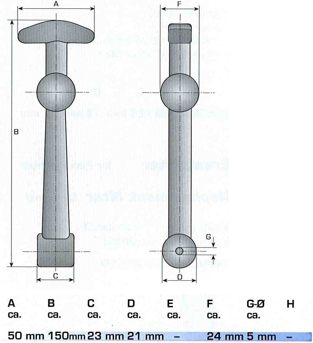 wamo 2/x Soporte para cap/ó con soporte 150/mm de largo largo