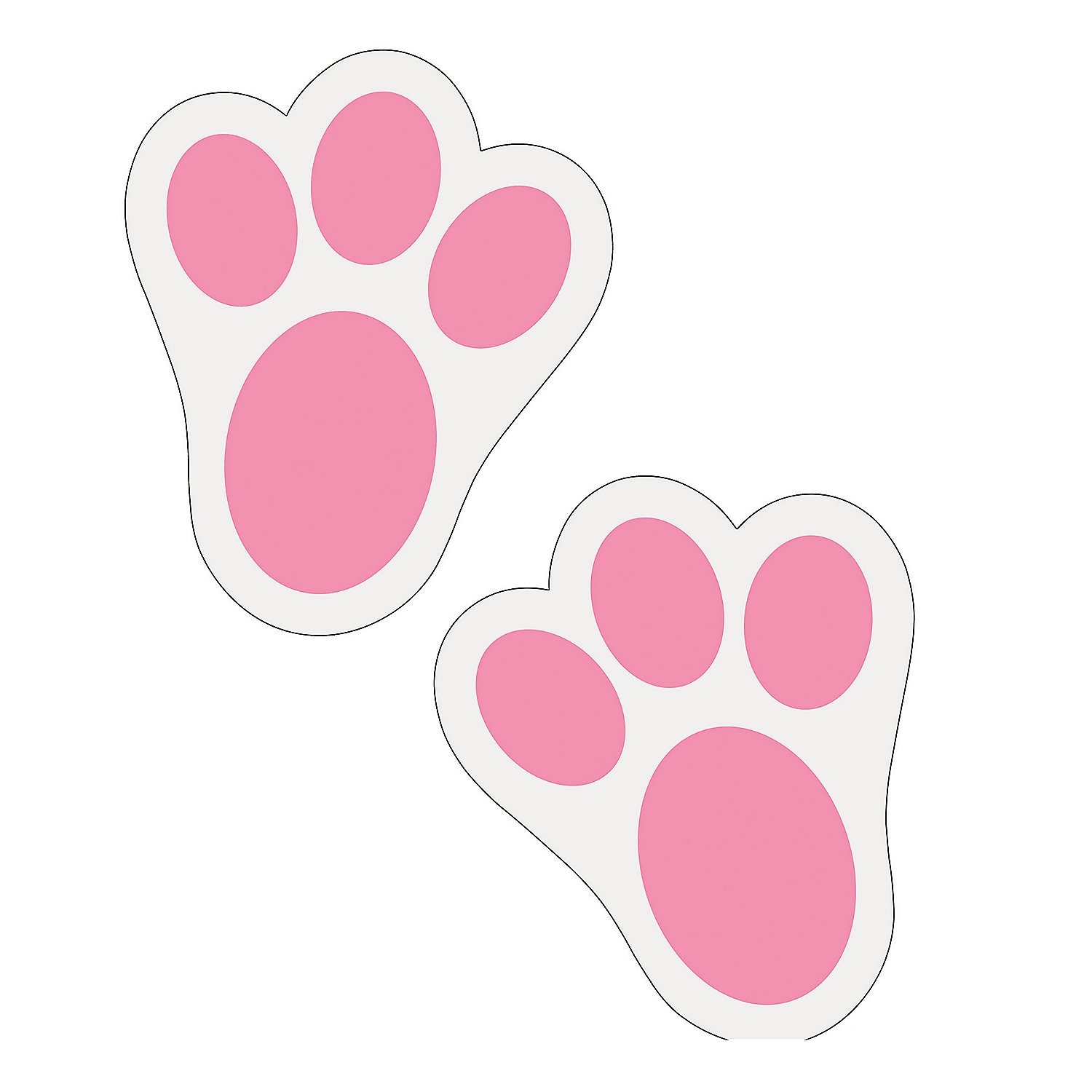 amazon com fun express pink bunny paw print floor decal clings