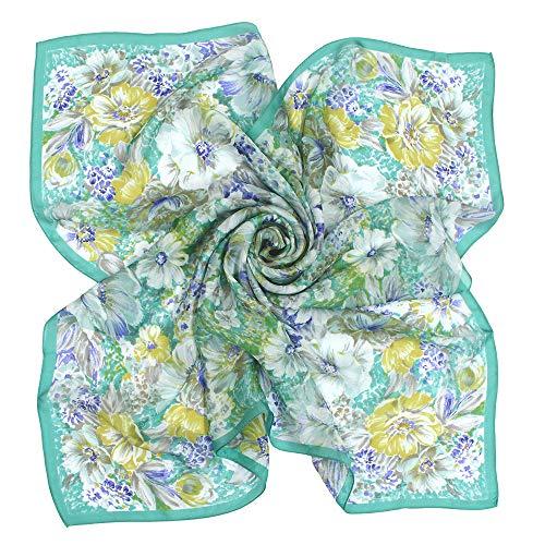(구란쿠레에) Grancreer  일본제(MADE IN JAPAN) 실크100% 스카프 (M-꽃무늬 시리즈) [MADE IN JAPAN]