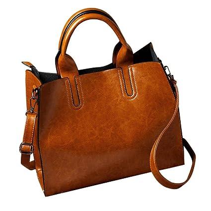 Amazon.com  ChainSee Fashion Leather Crossbody Modern Stylish Handbag  Satchel Tote Purses Messenger Shoulder Bag for Women Girl (Brown)  Toys    Games b77340da8787a