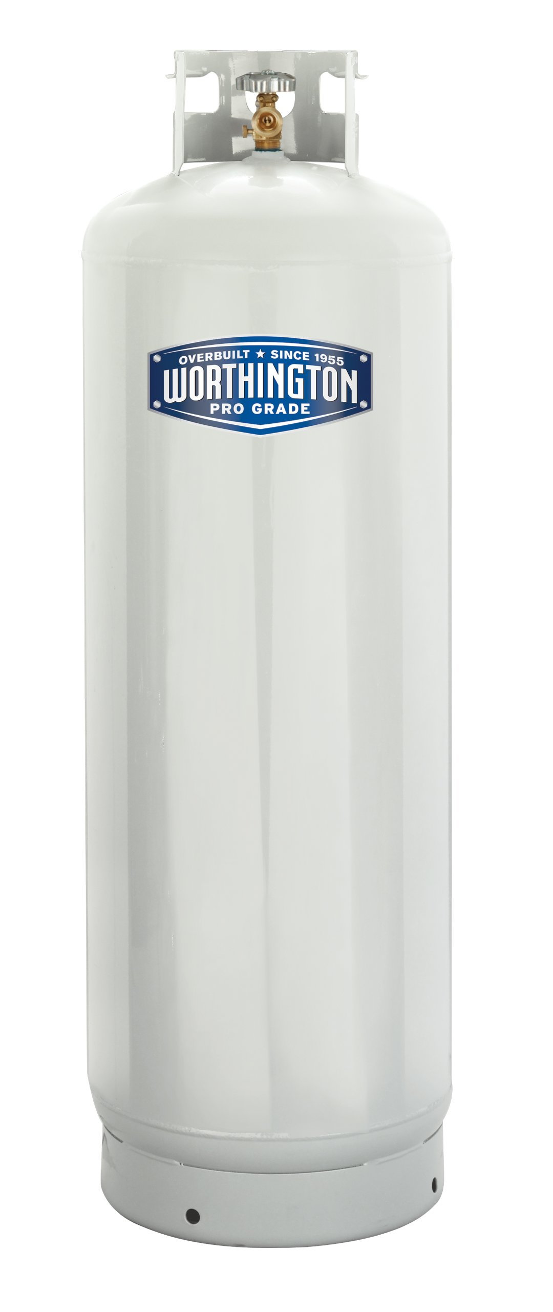 Worthington 303953 100-Pound Steel Propane Cylinder With 10% Valve And Collar