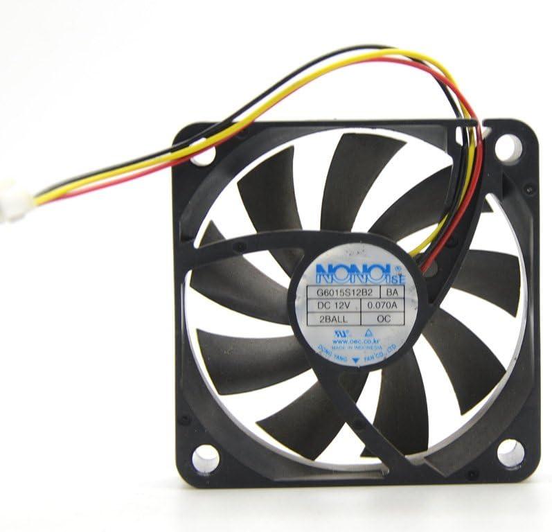Nonoise G6015S12B2 BA 60mm 6cm quiet silent For Samsung HLT5087 HLT5687 HLT6187 HLT5687SAX/XAA HLT6187SX/XAA axial cooling fan