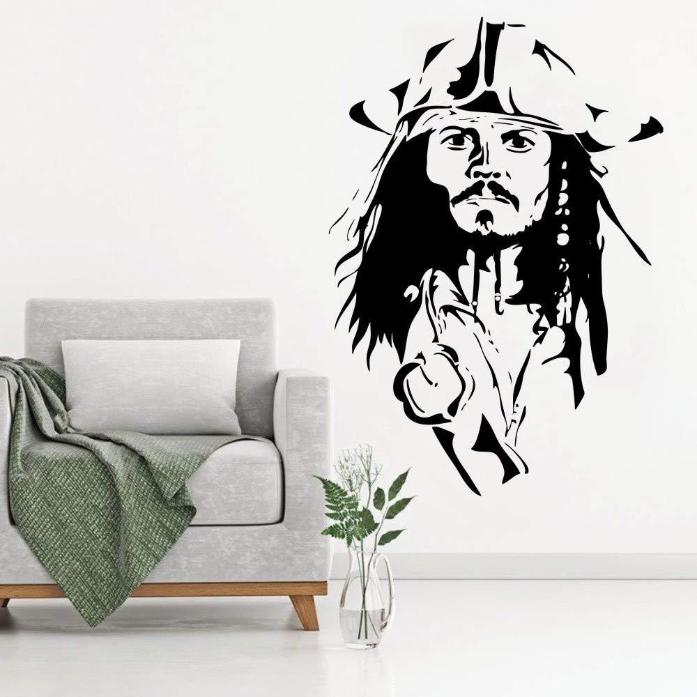 YuanMinglu Capitán Pirata Cool Head Poster Vinilo Pared Pintura ...