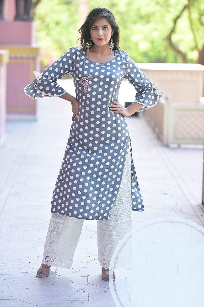 Rayon Kurtis designer Anarkali party wear Kurta pakistani Kameez plazzo Set