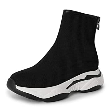 Amazon.com : Hy Womens Boots 2018 New Spring/Fall Cloth Surface Casual Sneakers Booties/Ladies Slip-Ons Wearable Cycling Boots/Thick Bottom Ankle Boots, ...