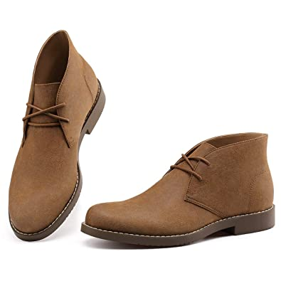 04dec6c6e20f2 GM GOLAIMAN Men's Desert Chukka Boots Ankle-2-Eyelet Lace Up Work Boots  Round