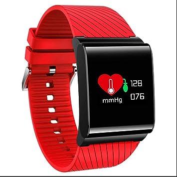 Pulsómetro Reloj Inteligente Monitores De Actividad Pulsera Deportiva Con Tensiómetro Monitor De Dormir y Recordatorio Sedentaria Reloj Bluetooth Reloj ...