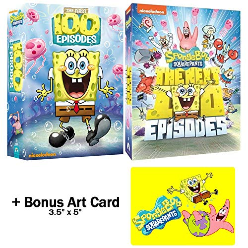 SpongeBob SquarePants: TV Series DVD Bundle - First 200 Episodes + Bonus Art Card